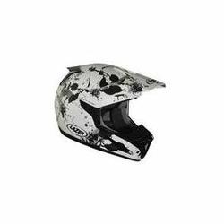 Kask motocyklowy LAZER SMX Leaves białyczarny mat