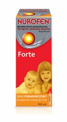 Nurofen Forte 40mgml smak pomarańczowy 100ml