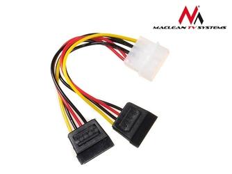 Maclean Kabel adapter zasilania Molex 2xSATA MCTV-632