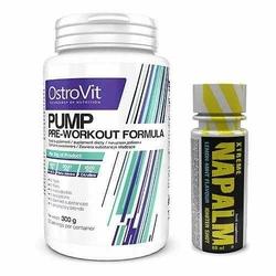 OSTROVIT Pump - 300g + FITNESS AUTHORITY - Xtreme Napalm Shot - 60ml - Orange || Orange  Raspberry