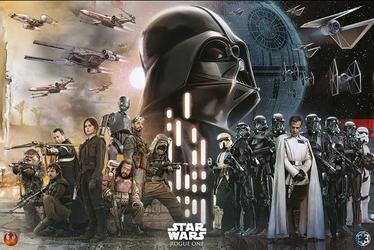 Star Wars Rogue One Rebels vs Empire - plakat