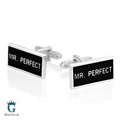 Spinki do mankietów Mr. Perfect - Pan Doskonały KC-932 Onyx-Art London