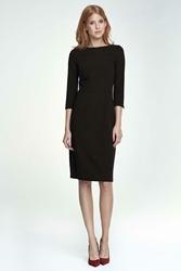Czarna Sukienka Ołówkowa Wizytowa
