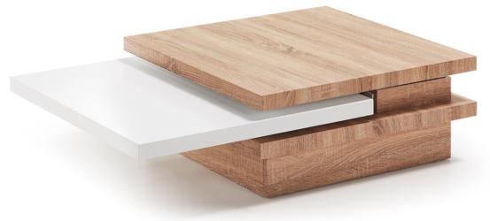 Stolik kawowy YOKKO 70x70cm - drewniany