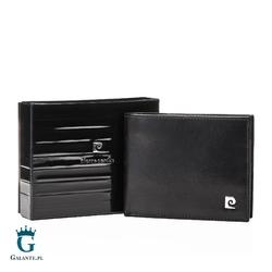 Czarny Portfel Męski Pierre Cardin z metalowym logo YS507.7 8806