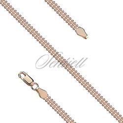 Bransoletka srebrna 925 Bead Laser 3FG pozłacana różowym złotem
