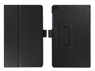 Etui stand case Lenovo Tab3 A7-10 essential czarne + Szkło - Czarny