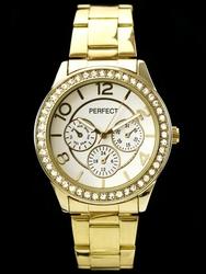 Zegarek damski PERFECT S607 - gold zp707a