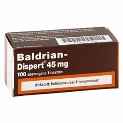 Baldrian Dispert 45 mg tabletki powlekane