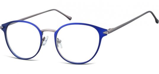 Oprawki okularowe kocie oczy damskie stalowe Sunoptic 940E granatowe