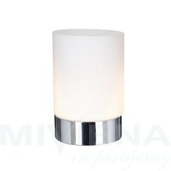 Lampa dotykowa chrom mleczne szkło 15 cm