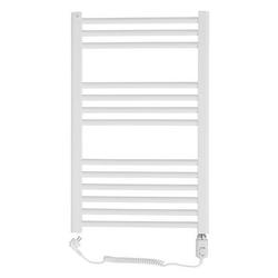 Grzejnik łazienkowy wetherby - elektryczny, wykończenie proste, 500x800, białyral - biały