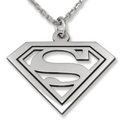 Wisiorek srebrny na dzień chłopaka superman-1