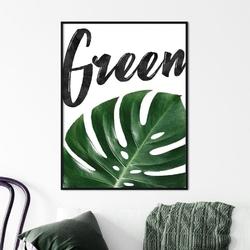 Plakat w ramie - green , wymiary - 50cm x 70cm, wymiary - 60cm x 90cm, ramka - czarna , ramka - biała