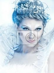 Obraz piękna zima bajki