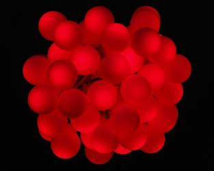 Lampki 40 led czerwone 6m joylight ip44 dekoracyjna girlanda kulki ledowe do domu i ogrodu