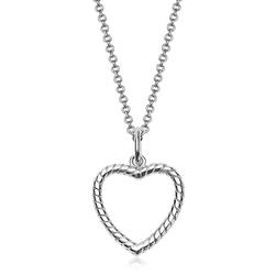 Staviori naszyjnik 47cm. srebro rodowane 0,925. serce ze zdobieniami