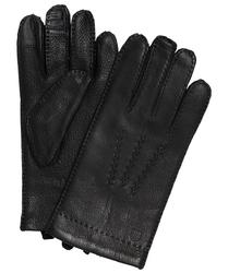 Eleganckie czarne męskie rękawiczki profuomo z technologią screen touch 9