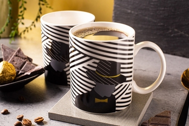 Kubek do kawy i herbaty porcelanowy altom design modern man 300 ml, dekoracja b  zmieniająca kolor