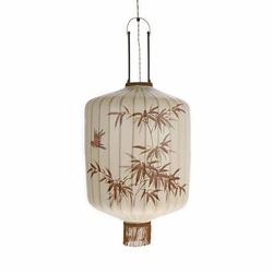 HK Living :: Lampa wisząca TERRA tradycyjna beżowa - beżowy
