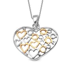 Zawieszka srebrna serce ażurowe iwra011 firmy verona