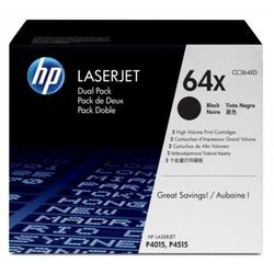Hp 64x zestaw 2 oryginalnych wkładów z czarnym tonerem laserjet xl