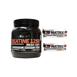 Olimp creatine mc 400 caps + baton matrix pro 32 bar 2x 80 g