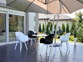 Krzesło na taras sven białe nowoczesne