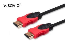 Elmak kabel hdmi 2.0 savio cl-140, złoty, 3d, 4kx2k, miedź, 7,5m, blister