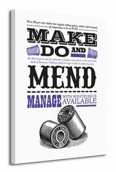 Asintended Make Do And Mend - Obraz na płótnie