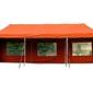 Pawilon handlowy 3x9 m automatyczny, pomarańczowy namiot ogrodowy ze ściankami