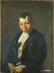 gazeciarz - george bellows ; obraz - reprodukcja