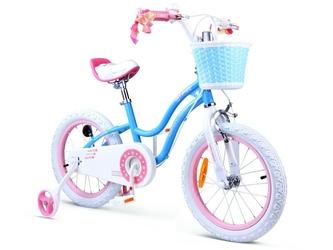 Royal baby star girl 16 ro0110   niebieski rowerek dla dziecka + prezent 3d
