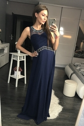 Evalola sukienka granat 44003-2