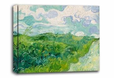 Green wheat fields, auvers, vincent van gogh - obraz na płótnie