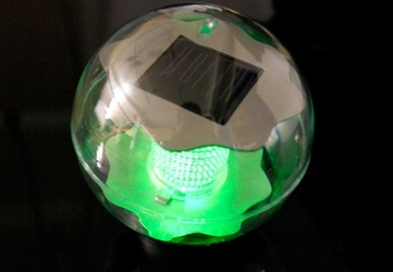 Lampa solarna kolorowa led, lampion ogrodowy w kształcie kuli