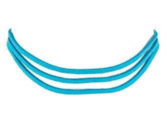 Choker naszyjnik rzemyk niebieski - niebieski