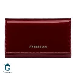 Czerwony portfel damski peterson bc466 rfid