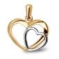 Staviori zawieszka dwa serca. żółte, białe złoto 0,333.