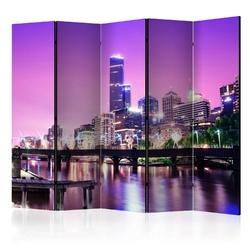 Parawan 5-częściowy - purpurowe melbourne ii room dividers