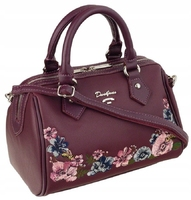 Torebka kuferek w kwiaty david jones bordowa - kuferki