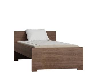 Łóżko nowoczesne pojedyncze santana ciemna - 90 cm - victoria v-20
