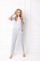 Piżama damska aruelle hearty long grey