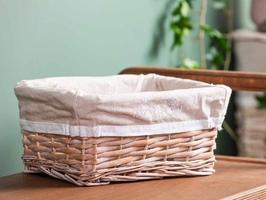 Koszyk  kosz wiklinowy na pieczywo  do organizacji  przechowywania altom design białe wzory mały