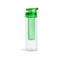 Sagaform - to go - bidon z pojemnikiem na owoce, 750 ml, zielony - zielony