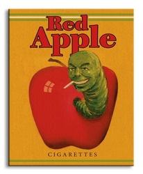 Pulp fiction red apple cigarettes - obraz na płótnie