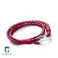 Czerwona bransoletka pleciona ze skóry t758-2