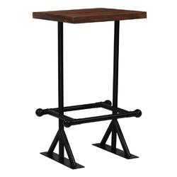 Vidaxl stolik barowy, lite drewno z odzysku, ciemny brąz, 60x60x107 cm