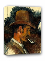Man with pipe, paul cézanne - obraz na płótnie