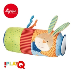 Sigikid aktywizująca poduszka wałek z lusterkiem, grzechotką i szeleszczącą folią 9m+ playq